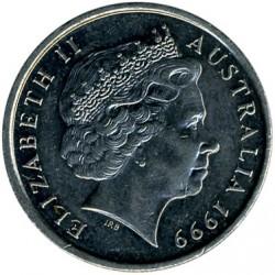 Coin > 10cents, 1999 - Australia  - obverse