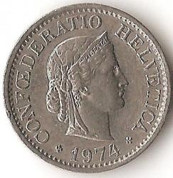 Coin > 10rappen, 1974 - Switzerland  - reverse
