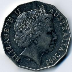 سکه > 50سنت, 2005 - استرالیا  (60th Anniversary - End of World War II) - obverse