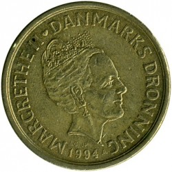 Moneda > 20kroner, 1994-1999 - Dinamarca  - obverse