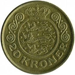 Moneda > 20kroner, 1994-1999 - Dinamarca  - reverse