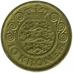 Νόμισμα > 10Κρόνερ(Κορώνες), 1994-1999 - Δανία  - reverse