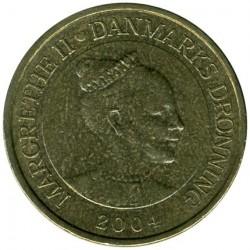 Монета > 20крон, 2003-2010 - Данія  - obverse