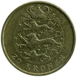 Монета > 20крон, 2003-2010 - Данія  - reverse