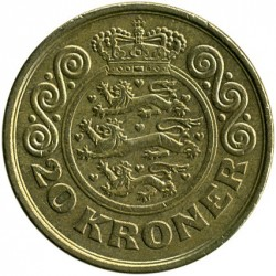 Монета > 20крон, 2001-2002 - Данія  - reverse