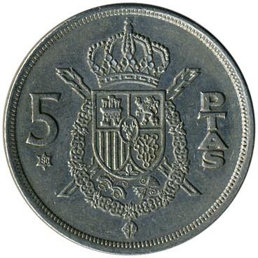5 ptas 1975 цена рубль 1873 г