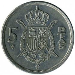 Moneta > 5pesetos, 1975 - Ispanija  - reverse