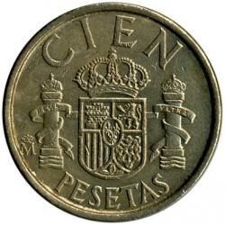 Coin > 100pesetas, 1982-1990 - Spain  - reverse