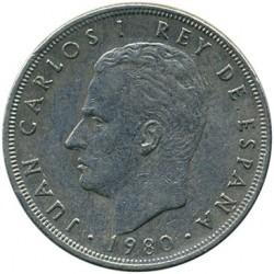 Coin > 5pesetas, 1980 - Spain  - obverse