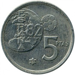 Coin > 5pesetas, 1980 - Spain  - reverse