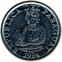 Moneta > 5gvaraniai, 1984 - Paragvajus  - obverse