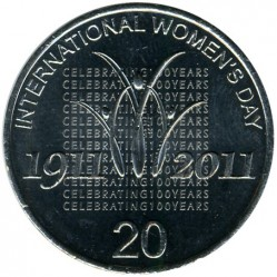 Moneta > 20 centų, 2011 - Australija  (100th Anniversary - International Women's Day) - reverse