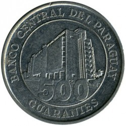 Coin > 500 guaranies, 2006-2016 - Paraguay  - obverse