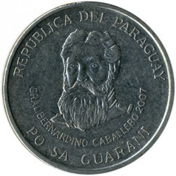 Coin > 500 guaranies, 2006-2016 - Paraguay  - reverse