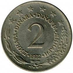 Münze > 2Dinar, 1971-1981 - Jugoslawien  - reverse