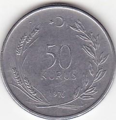 Moneta > 50kurušų, 1971-1979 - Turkija  - reverse