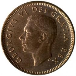 Moneta > 1centas, 1948-1952 - Kanada  - obverse