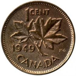 Moneta > 1centas, 1948-1952 - Kanada  - reverse
