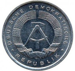 Moneda > 1 penique, 1977-1990 - Alemania - RDA  - reverse