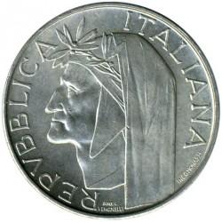 سکه > 500لیره, 1965 - ایتالیا  (700th Anniversary - Birth of Dante Alighieri) - obverse