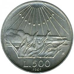 سکه > 500لیره, 1965 - ایتالیا  (700th Anniversary - Birth of Dante Alighieri) - reverse