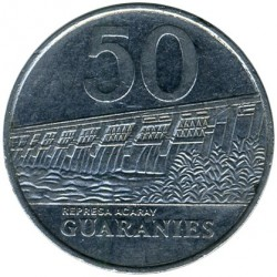 Moneta > 50guaranies, 1980-1988 - Paraguay  - obverse