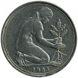 Coin > 50pfennig, 1983 - Germany  - obverse