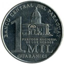 Coin > 1000guaranies, 2006-2008 - Paraguay  - reverse