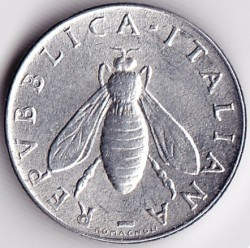 Moneta > 2liry, 1953-2001 - Włochy  - obverse