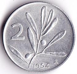 Moneta > 2liry, 1953-2001 - Włochy  - reverse