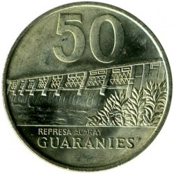 Coin > 50guaranies, 1992 - Paraguay  - obverse