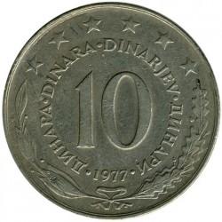 Moneda > 10dinares, 1977 - Yugoslavia  - reverse