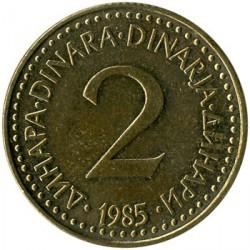 錢幣 > 2第納爾, 1982-1986 - 南斯拉夫  - reverse