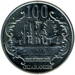 Coin > 100guaranies, 2006-2016 - Paraguay  - obverse