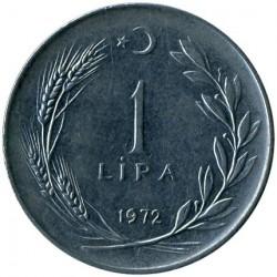 Moneta > 1lira, 1967-1980 - Turkija  - reverse