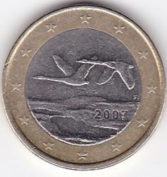 Pièce > 1euro, 2007 - Finlande  - obverse