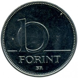 Moneta > 10fiorini, 2012-2017 - Ungheria  - obverse