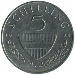 Moneta > 5szylingów, 1968-2001 - Austria  - reverse