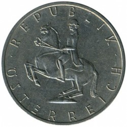 Minca > 5schilling, 1968-2001 - Rakúsko  - reverse