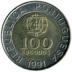 Minca > 100escudos, 1989-2001 - Portugalsko  - obverse