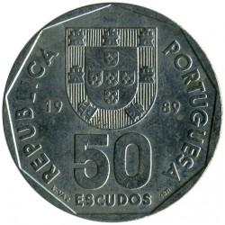 Monēta > 50eskudo, 1986-2001 - Portugāle  - obverse