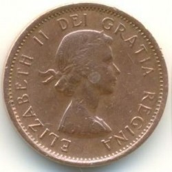 Moneda > 1centavo, 1953-1964 - Canadá  - obverse