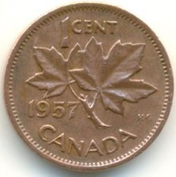 Moneda > 1centavo, 1953-1964 - Canadá  - reverse