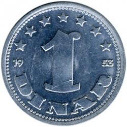 Moeda > 1dinar, 1953 - Iugoslávia  - reverse