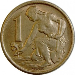 Minca > 1koruna, 1961-1990 - Československo  - reverse