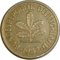 Moneta > 5 pfennig, 1950-2001 - Germania  - obverse