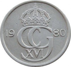 Mynt > 10ore, 1980 - Sverige  - obverse