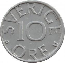 Mynt > 10ore, 1980 - Sverige  - reverse