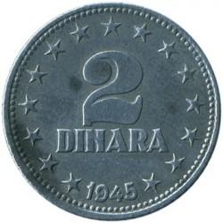錢幣 > 2第納爾, 1945 - 南斯拉夫  - reverse