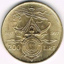 سکه > 200لیره, 1997 - ایتالیا  (100th Anniversary - Italian Naval League) - reverse